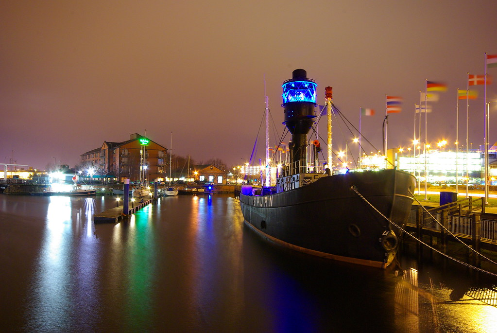 Spurn Lightvessel at Night