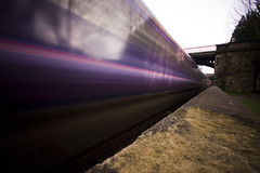 Purple Streaks (James Whitlock) Tags: longexposure pink train canon eos bath purple sigma daytime 1020 firstgreatwestern sydneygardens 400d