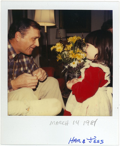 1981 - Jess with her Godfather Har