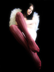 feathered (*Kristene) Tags: white black feet lines socks angel contrast self wings toes glow bright background sheet edit onblack kneehighsocks kristene freathers futab