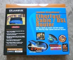 Linksys Router Box (2001) (sdobie) Tags: 2001 switch hardware 100views linksys router network boxes ethernet broadband