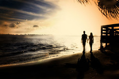 JK Sunset (dubrillantes) Tags: sunset portrait sun beach photoshop romance backlit silhoutte