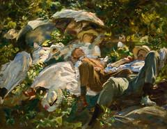 Siesta (Group with Parasols) by John Singer Sargent, 1905 (Tiz_herself) Tags: art michigan paintings detroit dia explore museums sargent johnsingersargent detroitinstituteofarts