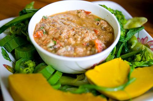 Naam phrik plaa raa, a 'dip' of fish, Crokmai Thai Lao