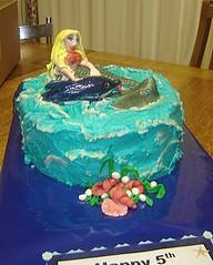 mermaid cake (The Whole Cake and Caboodle ( lisa )) Tags: newzealand shells cake kids marine dolphin mermaid whangarei buttercream caboodle fondantaccents thewholecakeandcaboodle