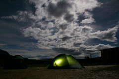 Lit tent under dramatic sky (nuggems) Tags: camping sky night venezuela tent gransabana roraima lpsky