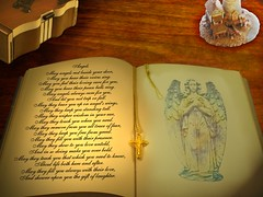 Angel's Poem (rjg329) Tags: wood light lighthouse angel book poem desk blackwalnut weeklyphotoshopcompetition keepsakebox