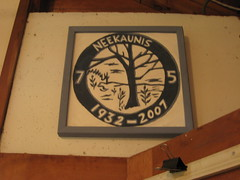 NeeKauNis' 75th Anniversary Plaque