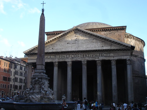 The towering Pantheon.