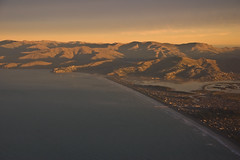 New Brighton and the Port Hills, Christchurch,...