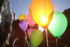 I'm dancing in the wind. () Tags: orange colors balloons fun explore notserious excellentphotographeraward cmwdorange