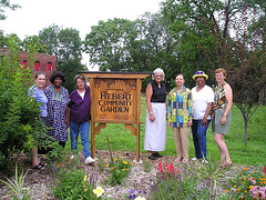 community garden in Old North St Louis, by Old North Restoration Group