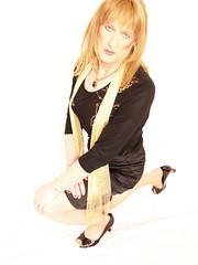 Bend ze knee.... (Julie Bracken) Tags: old red portrait fashion hair tv cd mini skirt crossdressing tgirl transgender mature tranny transvestite crossdresser crossdress kinky tg trannie mtf m2f feminized enfemme xdresser tgurl feminised transsister julieb85