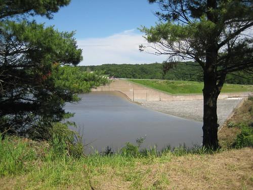 Coralville Dam Spillway at Crest