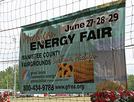 Michigan Energy Fair Sign