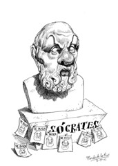 SÓCRATES (Morales de los Ríos) Tags: writers caricaturas philosophers caricatures escritores filósofos