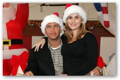 Cynthia Scurtis Rodriguez and A-Rod on Christmas