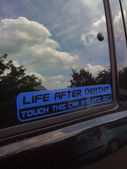 Life after death? (@boetter) Tags: car sign sticker bil skilt afterdeath lifeafterdeath