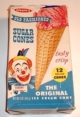 Scoopy's Sugar Cones box