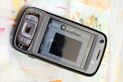 PDA 手機裡裝了 QuickMark 軟體後就可以讀 QR code
