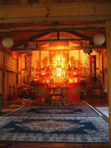 The main prayer area