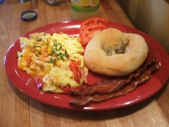 Wisconsin scramble and bialy