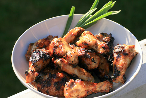 honey lavender lemon chicken wings
