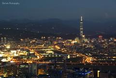 Taipei city at night from 金面山 (Sherwin_andante) Tags: taipei 台北 2008 內湖 金面山 sigma1770 mywinners 200808 k10d