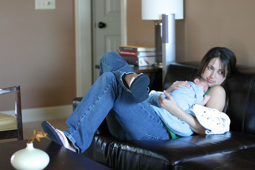 Mommy & Jack lounging at home
