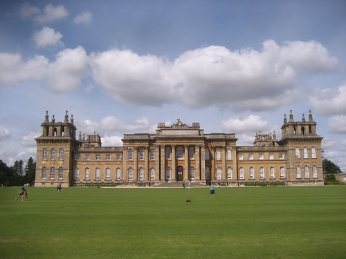 Blenheim Palace and the great lawn
