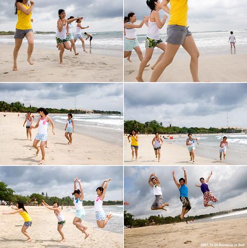 你拍攝的 Nana一群人穿著彩虹去巴厘島。