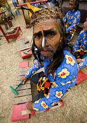 Borobudur musician in traditional suit, Java, Indonesia (Eric Lafforgue) Tags: musician music indonesia java asia asie indonesie indonesi indonesien  indonsie  indonezja 6354 lafforgue indoneesia   endonezya indonezija    indonzia indonezia indnesa  indonzija indonezio indoneziya indonisa