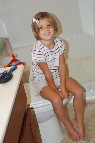 The big sister who helped potty train
