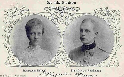 Brautpaar Erzherzogin Elisabeth mit Fürst Otto Windisch-Grätz by Miss