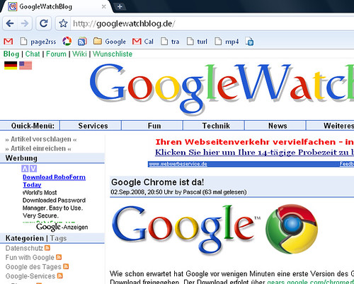 GWB in Chrome