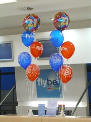 21st Birthday balloon bouquets for FlyBe at Be...
