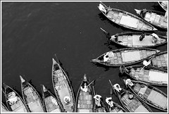 The Rhyme of Ancient River - II [..Dhaka, Bangladesh..] (Catch the dream) Tags: water river boats waiting transport lifestyle aerial passengers pollution transportation wait bengal bangladesh bangla array dinghy bengali polluted boatmen bangladeshi buriganga bangali waterpollution blacken riverpollution oldganges gettyimagesbangladeshq2