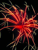 red and gold effect (EpicFireworks) Tags: party bonfire pyro 13g barrage pyrotechnics sib epicfireworks
