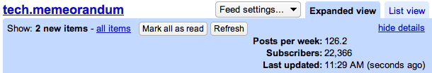 last crawled in google reader