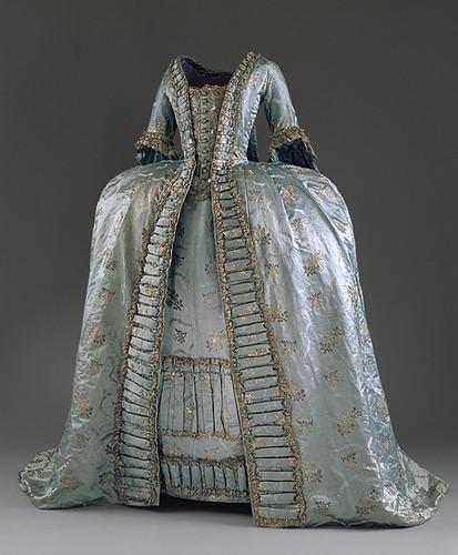 The Pelisse Robe A La Francaise Circa 1765
