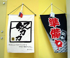 Fluttering Temple Banners