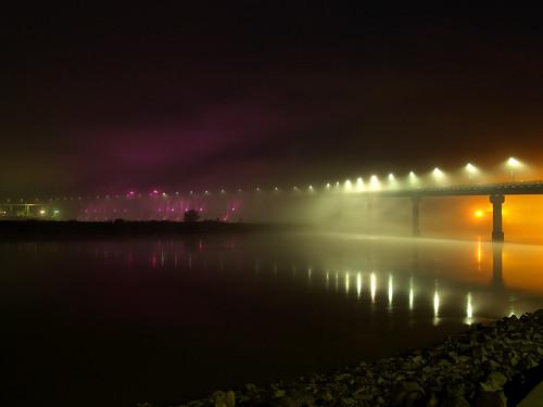 Foggy Big Dam Bridge