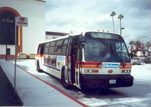1992 gillig bus going through city in evansvilleindiana - 1 2
