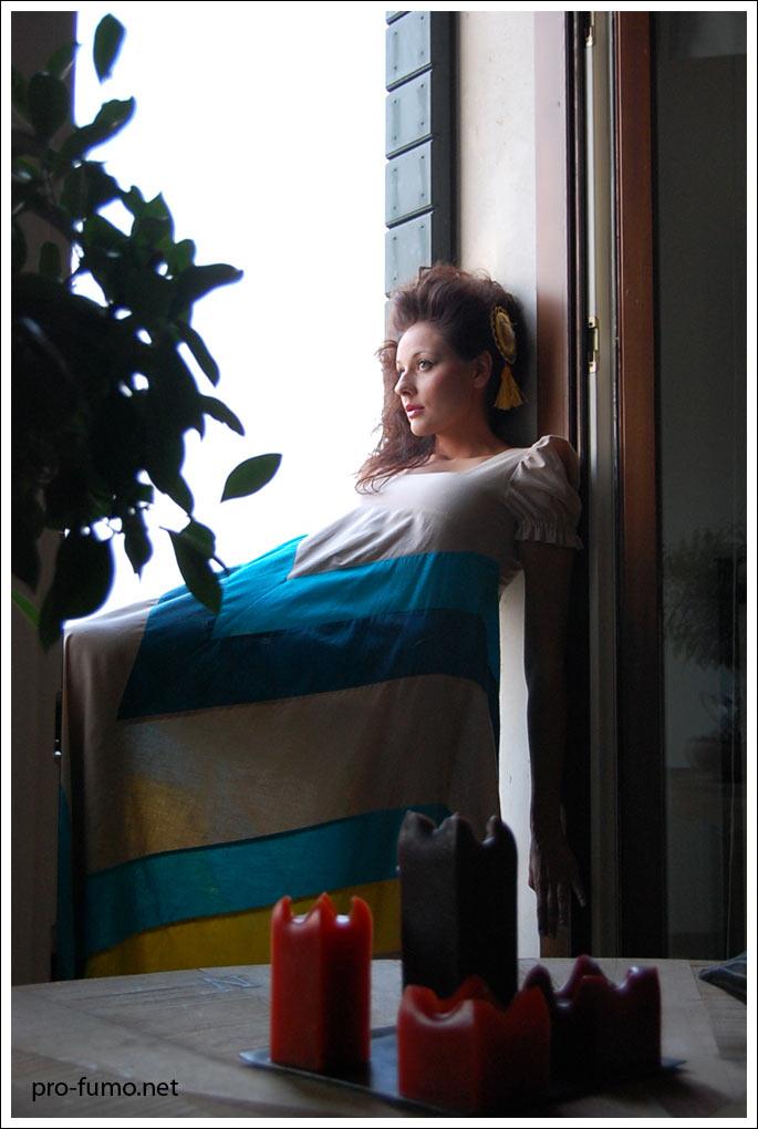Michela al balcone