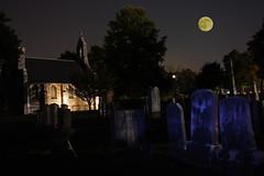 Mt Olivet Cemetery teaser (gotbob) Tags: blue moon halloween church cemetery grave night canon scary time stones maryland chapel mount lapse frederick olivet xsi slidr frednet pse5 bobcarney