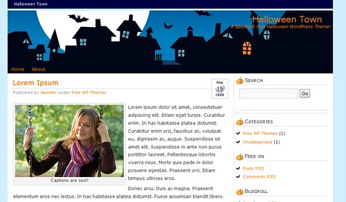 theme-wordpress-halloween-town