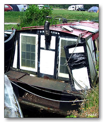 Art Gallery (susie 1) Tags: show old woman happy boat paintings bad rusty falling painter narrow barge wrecked apart disrepair