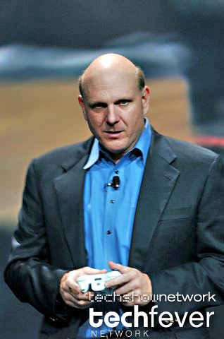 Microsoft CEO Steve Ballmer at the Consumer Electronic Show CES 2006 by TechShowNetwork.