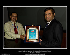 Award to Event Sponsor Dr. Jayant Deshpande of Omnix