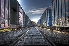 Boxcars (shawn peps) Tags: railroad train graffiti track boxcar hdr